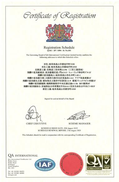 ISO9001:2015の認証取得 2